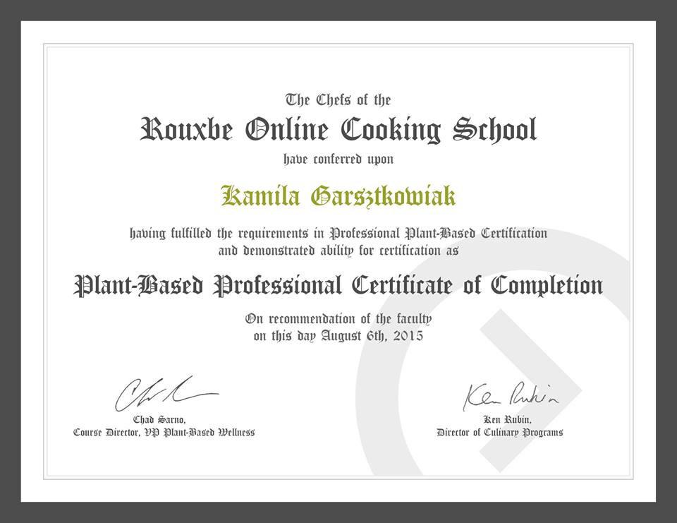 Chef Kamila Certificate 1